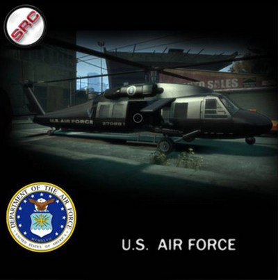 New U.S. AIR FORCE вертолёты для GTA 4